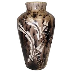 """Large Navajo Horse Hair Pottery Vase- Signed S. Smith - 14 1/4"""" Tall"""