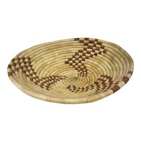 "Large Pima Coiled Basket - 12"" Diameter"