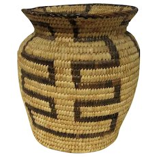 "Large Pima Olla Basket - 7"" Tall"