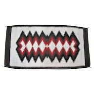 """Large Thick Wool Rug - 61 1/2"""" Long"""