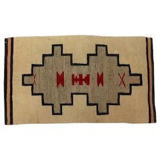 "Late 1800's Navajo Rug - Tight weave - 46"" L x 27"" W"
