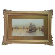 Late 19th Century - Landscape Nautical Print - S.A. Mulholland