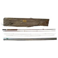 "Lot #219 -Bamboo Fly Rod 3PC w/Extra Tip and Holder - 8'8"" Long"