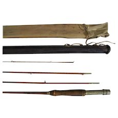 Lot #225 -1912 Abbey & Imbrie 3PC Bamboo Fly Rod w/Wheeler Rod Protector - 8 Ft
