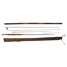 Lot #227 - Winchester 3PC Bamboo Fly Rod w/Rare Cane Hollowed Holder - 9Ft
