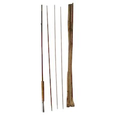 Lot #231 -Antique 3PC Bamboo Fly Rod w/Extra Tip - 8 1/2 Ft - Made in Japan