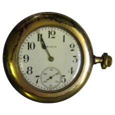 Lot #913 Elgin 7 Jewels Pocket Watch - Empire State Guaranteed 20 Years