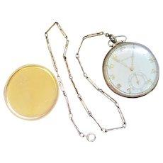 Lot #915 Bulova 15 Jewels Pocket Watch w/Watch Fob