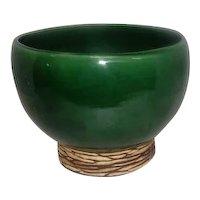 "McCoy 1950's Green Planter Bowl - 5"" Tall"