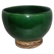 "McCoy 1950's Green Planter Bowl - 5"" Tall"