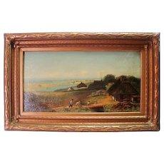 "Mid 1800's Original Oil on Canvas Framed - Beautiful - 32"" x 20 1/4"""