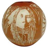 Modern Navajo Pottery Vase - Signed Nelson M.