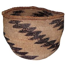 "Native Klamath California Basket - 5"" Tall"