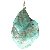 Natural Turquoise Stone Pendant - Beautiful