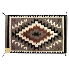 "Navajo Crownpoint Rug - AZ - 37 1/4"" Long"