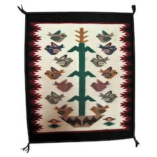 "Navajo Pictorial Rug - 20 1/2"" Long"