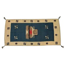 "Navajo Rug - Bound Edges - 58"" Long x 28"" Wide"