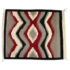 "Navajo Rug - Diamond/Striped Design - 41"" Long"
