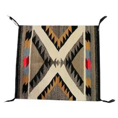 "Navajo Rug - Great Design - 25 1/2"" Long x 22 1/4"" Wide"