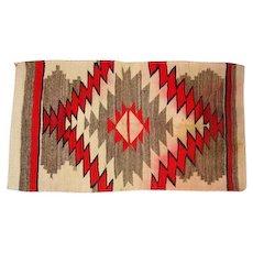 "Navajo Rug - Squash Blossom Pattern - 54 1/2"" Long"