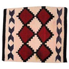 """Navajo Rug - X & Diamond Pattern - 44"""" L x 40"""" W"""