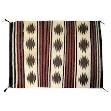 "Navajo Rug w/ Squash Blossom Design - 24""L x 8""W"