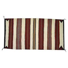 "Navajo Saddle Blanket - Striped Design - 58 1/2"" Long"