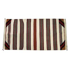 "Navajo Saddle Blanket - Striped Design - 59 1/2"" Long"
