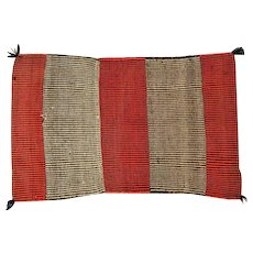 "Navajo Saddle Blanket - Thick Twill Weave- 52"" Long"
