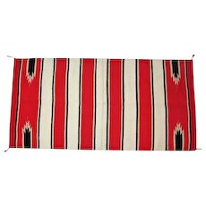 "Navajo Saddle Blanket - Vibrant Red - 64"" Long"