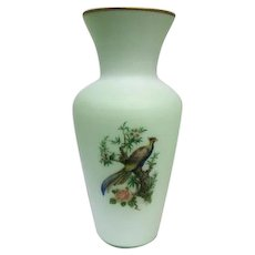 """Norleans - Made in Italy - Cameo Glass Hand Painted Vase - 14 1/4"""" Tall"""