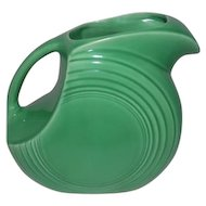 "Old Fiesta Medium Green Dish Water Pitcher - 7 1/2"" Tall"