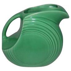 """Old Fiesta Medium Green Dish Water Pitcher - 7 1/2"""" Tall"""