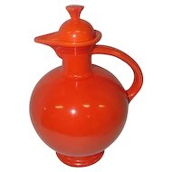 "Old Fiesta Red Carafe Pitcher w/Lid  - 9 1/4"" Tall"