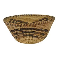 "Pima Indian Basket - 2 7/8"" tall and 6 3/4"" in diameter"