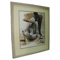 "Prof. Framed & Matted - ""Wyoming Obsidian"" 17/25 by Claude J. Mosto"