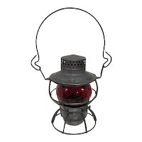 "Railroad Dressel Adlake Red Globe Lantern - 9 1/4"" Tall"