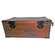 Rare - Early 1800's Wooden Dovetailed Purpose Made Developing Box - Tintypes