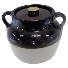 Red Wing USA Double Handled Bean Pot w/Lid