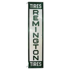 """Remington Tires Sign - Double Sided - 59 1/2"""" L x 14"""" W"""