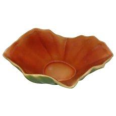 """Roseville - Florane 61-9 Green Vase Bowl - 10"""" Long"""