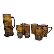 Royal Vistas Ware Set -Ridgway -Made of Famous Artist Pictures -Pitcher/Cups/Glasses