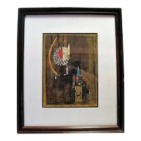Series 1 Original Colored Lithograph Plate Signed by Friedlander with COA