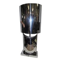"Signed 1972 Curtis Jere Talisman Chrome Table Lamp - 37 3/4"" Tall"