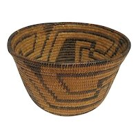 Southwest Coiled Basketry Bowl Pima