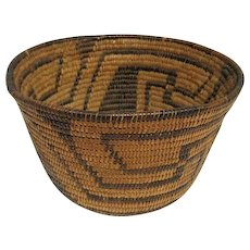 Southwest Coiled Basketry Bowl Pima