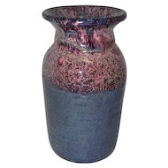 "Speckled Multi-Colored Pottery Vase - Marked on Bottom - 9 1/4"" Tall"
