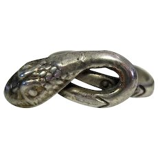 Sterling Silver Snake Wrap Ring Marked HECHO EN MEXICO