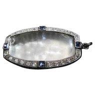 Stunning - Platinum/Diamond/Sapphire Watch Pendant Case - 6.6 Grams