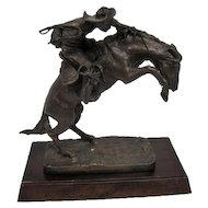 "The ""Bronco Buster"" bronze statue Frederic Remington - The Franklin Mint"